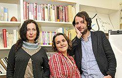 De izqda a dcha: Estefanía González, Leticia Sánchez Ruiz y Manuel Astur