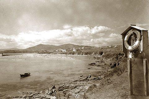 Imagen de la Playa de A Rapadoira en 1955