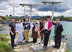 Hosteleros de Tapia durante la presentación de las Jornadas del Bonito