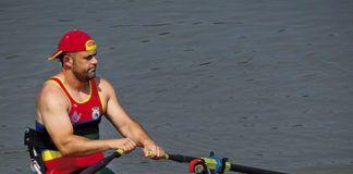 Juan Pablo Barcia, remero paralímpico, en el Mundial de Korea 2013