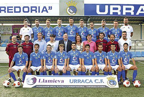 Plantilla del primer equipo del Urraca C.F., que juega en Tercera División