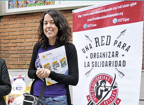 Xana Reyes promotora de Red Solidaridad Popular