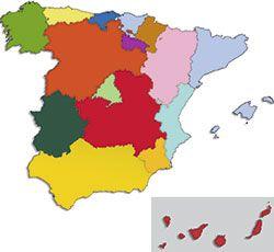 Mapa de las autonomías