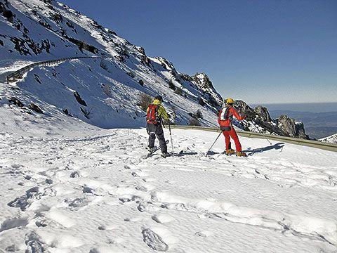Esquí de travesía en el Aramo