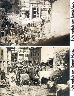 Imágenes de la Feria de Ganado en los años 50, en la Plaza del Ayto