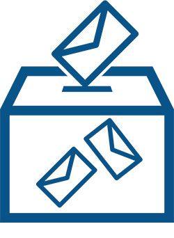 Editorial urna con votos