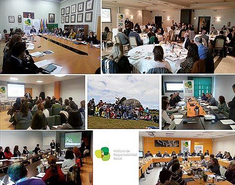 Mosaico de actividades organizadas por el Club Asturiano de la Calidad en materia de responsabilidad social y sostenibilidad.