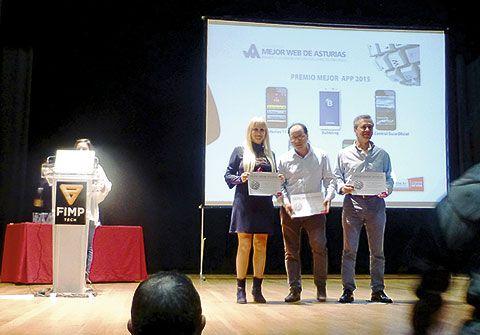 Entrega del Premio como finalista a la Mejor web de Asturias
