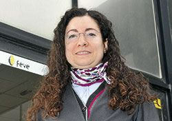 Ana Guerra, maquinista de tren