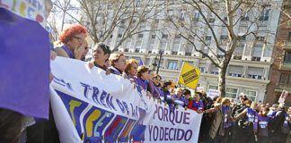 Manifestación de apoyo al Tren de la Libertad en Gijón