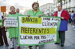 Manifestación por las preferentes de Bankia