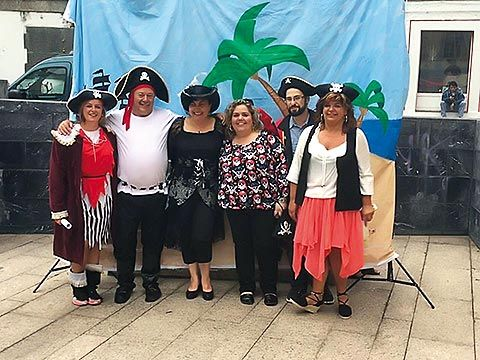 Fiesta Pirata organizada por la Asociación de Comerciantes de Luarca