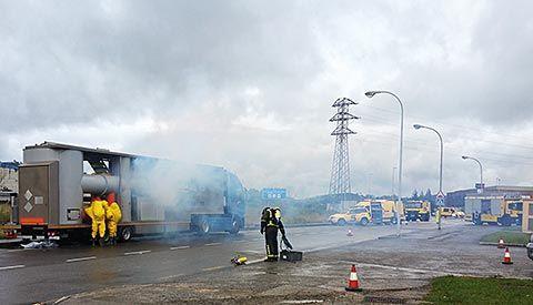 Simulacro de emergencia en Polígono industrial de Silvota