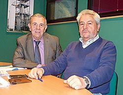ASPEFA: Víctor Menéndez, presidente, (izda.) y Ángel Villabrille, vicepresidente (dcha.)