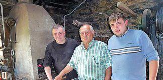 Antonio Díaz a la izda., con su padre Antonio y su hijo Aurelio