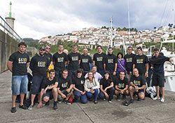 Tripulantes del velero El Saltillo