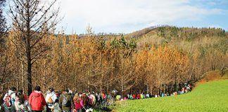 Marcha solidaria en La Braña (El Franco)