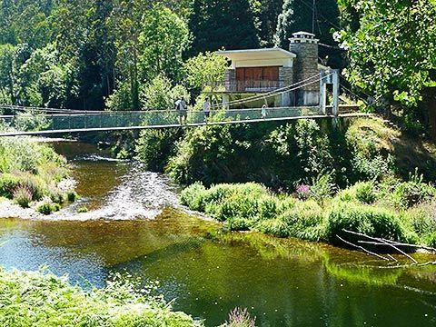 Puente colgante de Xesteira, en San Tirso de Abres