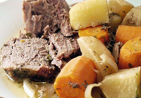 Nabos con carne