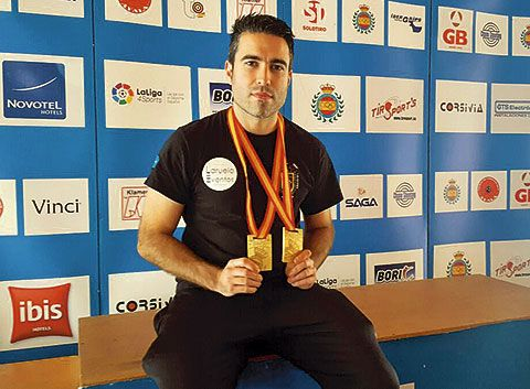 Jorge Díaz. Campeón de tiro olímpico
