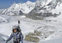 Rosa Fernández en la expedición al Kangchenjunga. (8.586 m.)