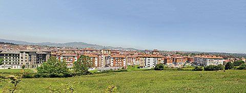 Vista general de Lugones (Siero)
