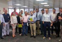 Pablo García Vigón con los asistentes al grupo de networking en Silvota.