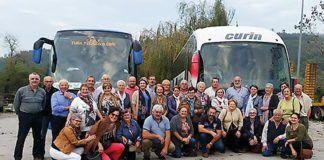 Participantes de la asociación en el viaje a Guipúzcoa.