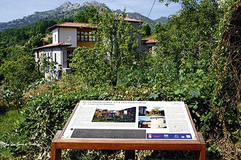 Ruta De la Prehistoria a la Era Industrial (casona de los Menéndez Argüelles en L'Aldea). Laviana