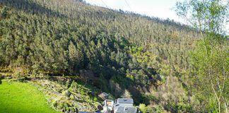 Vista del pueblo de Nadóu (Coaña)