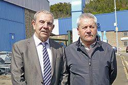 Víctor Menéndez y Angel Villabrille, presidente y secretario de ASPEFA