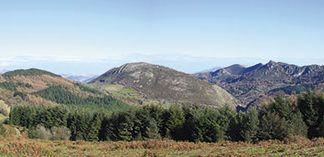 Vista panorámica del monte Cetín