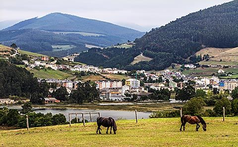 Vista general de Vegadeo