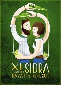 Cartel del XL Festival de la Sidra de Nava