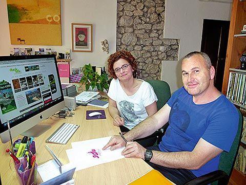 Ramón Molleda y Sandra Asenjo