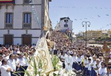 Procesión de la Virgen del Carmen en Tapia