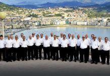 El Coro Manín en uno de sus viajes a San Sebastián