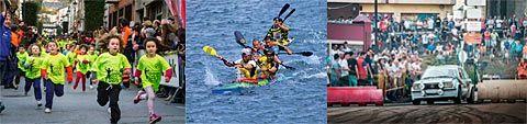Carrera San Silvestre, piragüismo y duelo de Traseras en Navia
