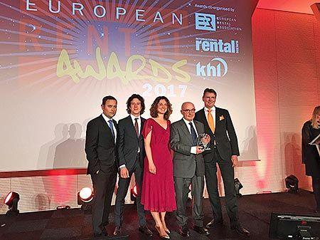 Entrega del Premio a la Mejor Pyme Europea del Alquiler en el año 2017, en Ámsterdam