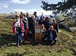 Inauguración de la nueva señalización del Parque de Penouta, en Penedo Aballón