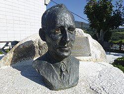 Busto del escultor y poeta Banjamín López