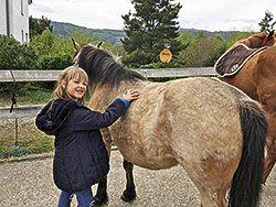 Actividad infantil con caballos en La Solana