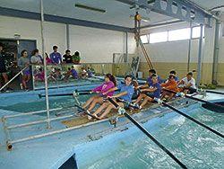 Entrenamientos del Club de Mar Castropol, en sus instalaciones