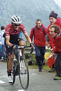 Alberto Contador en la subida a L'Angliru 2017