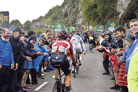 Subida a L'Angliru de La Vuelta Ciclista