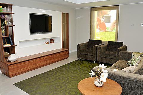 Sala de estar en una residencia asturiana