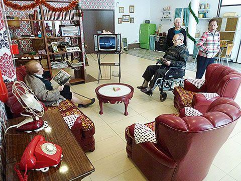 La 'sala de la reminiscencia' tuvo una gran acogida entre los usuarios del centro residencial