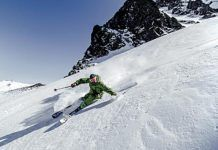 Esquiador en Fuentes de Invierno