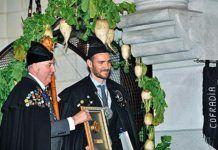 El Presidente de la Cofradía con el olímpico asturiano Saúl Craviotto