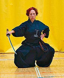 Inmaculada fue la primera mujer en Asturias en conseguir el Tercer Dan en aikido y iaido